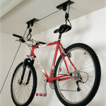Ceiling Mounted Bike Lift Pulley System